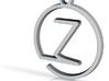 Z Monogram Pendant 3d printed