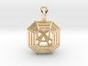 3D Printed Diamond Asscher Cut Pendant  3d printed