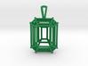 3D Printed Diamond Emerald Cut Pendant (Small)  3d printed