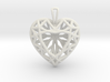 3D Printed Diamond Heart Cut Pendant (Large)  3d printed