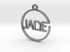 JADE First Name Pendant 3d printed