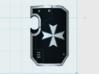 10x Maltese Cross - Marine Boarding Shields w/Hand 3d printed