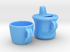 Teapot With Cup 3d printed