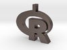 Pendant R Statistics Logo (thickness 4.5 mm) 3d printed