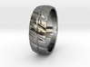 Grooved Mens' Ring 3d printed