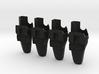 Alien Blaster Holsters (1:6 Scale) 4 Pack 3d printed
