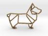 Origami Dog Pendant No.1  3d printed