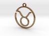 Taurus Zodiac Pendant 3d printed