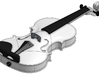 Violin (Body, Scroll, Fingerboard) 3d printed SLA version shown, with installed hardware (not included)