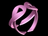 Double Ribbon 3D Breast Cancer Ring 3d printed
