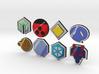 Pokemon Badges (Johto League) 3d printed