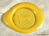 Vizsla (dog) Wax Seal 3d printed Vizsla (dog) impression in Butter Yellow sealing wax