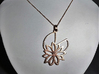 Waterlily Pendant 3d printed add your own chain