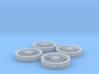 Trolley Wheels (1:32) 3d printed