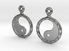 YinYang EarRings 2 - Pair - Precious Metal 3d printed