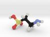 Taurine molecule model, large. 3d printed