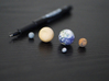 Tiny Mercury, Venus, Earth, Mars & Moon 3d printed