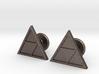 Triforce Cufflinks 3d printed