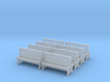 Bench type A - 00 ( 1:76 scale ) 10 Pcs set 3d printed