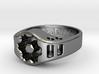 US12.5 Ring XIX: Tritium (Silver) 3d printed