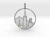 San Francisco Pendant With Loop 3d printed San Francisco Pendant with Loop (different materials have different prices)
