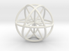 Vector Equilibrium Sphere 20mm- with 6 axis 3d printed