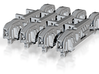 4PK FUD G SCALE PRR 2DT4 TENDER TRUCK SIDEFRAMES 3d printed 4pk FUD PRR 2DT4 Tender Truck Sideframes