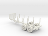 Logging Trailer 20 Feet 1-87 HO Scale 3d printed