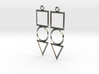 "Earrings - ""Shapes"" (square) 3d printed"