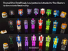 Minerva Faceplate (Titans Return) 3d printed Faceplates attached to Titan Masters to demonstrate functionality (shown with others)