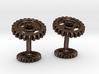 Gear Cog Cufflinks 3d printed
