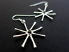 Asterionella Diatom Earrings 3d printed Asterionella earrings in polished silver