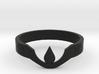 Suspended Teardrop Ring (Laurel) 3d printed