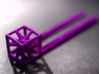 Hairpin with stylized cube. 3d printed