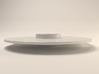 Amuse Bouche Plate - 24cm/5mm 3d printed Rendered Plate Side 1 (without Glaze)