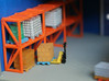 N Scale Pallets Freight Boxes Bags (38pc) 3d printed Painted pallets with boxes in Frosted Ultra Detail
