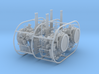 4 X 1/72 40mm Bofors Twin Mount USN WWII ships 3d printed