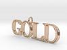 Gold Pendant 3d printed
