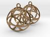 Earrings Spherical Mesh 3d printed