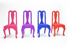 1:24 Queen Anne Chair 3d printed Dyed, Strong & Flexible Colors