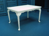 1:24 Queen Anne Dining Table, Medium 3d printed Printed in White, Strong & Flexible