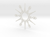 Paris Snowflake Ornament 3d printed