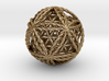 Twisted Icosasphere w/nested FOL Icosahedron 3d printed