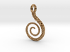 Spiral Pendant Textured - Version 2 3d printed