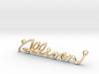 ALLISON Script First Name Pendant 3d printed