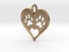 Cat paw print love heart pendant 3d printed