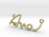AVA Script First Name Pendant 3d printed
