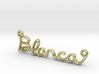 BLANCA Script First Name Pendant 3d printed