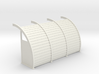 Quonset 3 6ft Panels 10ft - 72:1 Scale 3d printed