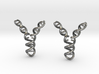 Replicating DNA Earrings 3d printed Replicating DNA Earrings
